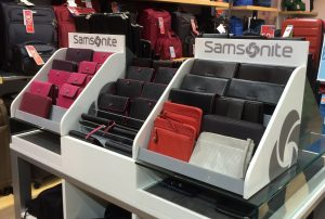 Samsonite Wallet Display